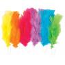 [Dlouhá barevná pírka, 18 ks]
