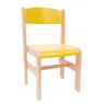 [Dřevěná židle Extra BUK žlutá - 35 cm]