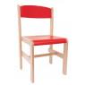 [Drevená stolička Extra BUK - červená - 38 cm]
