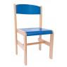 [Drevená stolička Extra BUK - modrá - 38 cm]