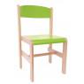 [Drevená stolička Extra BUK- zelená - 38 cm]