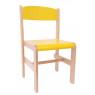 [Drevená stolička Extra BUK - žltá - 38 cm]