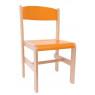 [Drevená stolička Extra BUK - oranžová - 38 cm]