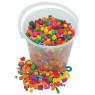 [Drevené farebné korálky vo vedierku, 1 kg]