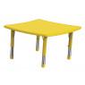 [Plast.stol.doska - nepr.štvorec žltý]