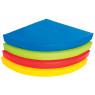 [Matrace - čtvrtkruh, 90x90x10 cm, modrý]