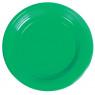 [Plastové taniere 10ks - zelené]