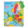 [Vkladacie puzzle Mapa Európy]