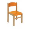 [Stolička drev. BUK oranžová 38  cm]