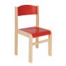 [Drevená stolička JAVOR červená 38 cm]