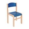 [Drevená stolička JAVOR modrá 38 cm]