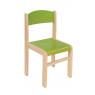 [Drevená stolička JAVOR zelená 38 cm]