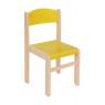 [Drevená stolička JAVOR žltá 38 cm]