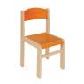 [Drevená stolička JAVOR oranžová 38 cm]