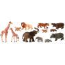 [Plastová zvířátka-Afrika s mláďaty 12ks]