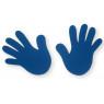 [Modrá dlaň sada 2 ks]