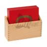 [Dřevěná krabice na písk.tvary,tečky a čísla]