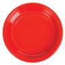 [Plastové talíře - červené - 10 ks]