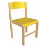[Dřevěná židlička  BUK -  ŽLUTÁ 31 cm]