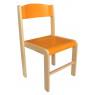 [Dřevěná židlička BUK - ORANŽOVÁ 31 cm]