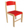 [Dřevěná židlička  BUK - ČERVENÁ 35 cm]