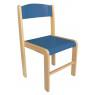 [Dřevěná židlička BUK -  MODRÁ 35 cm]
