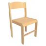 [Dřevěná židlička BUK - PŘÍRODNÍ 35 cm]