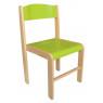 [Dřevěná židlička BUK -  ZELENÁ 35 cm]