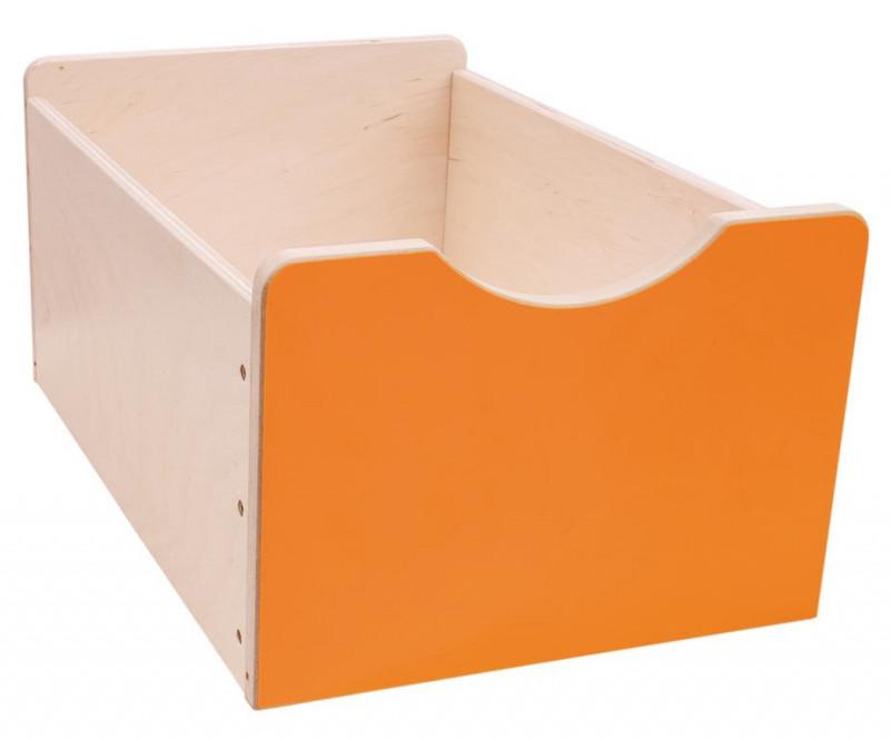 161d6874a Drevený úložný box Numeric - Veľký - oranžový | Nomiland.sk - obchod ...