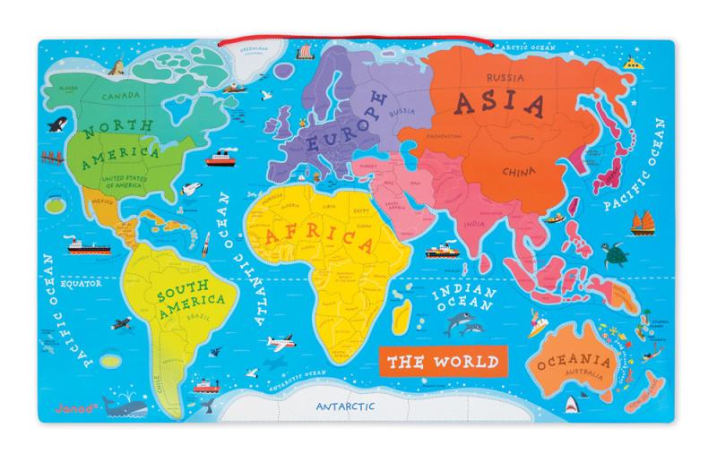 mapa sveta na srpskom Magnetická drevená mapa sveta | Nomiland.sk   obchod pre deti a  mapa sveta na srpskom