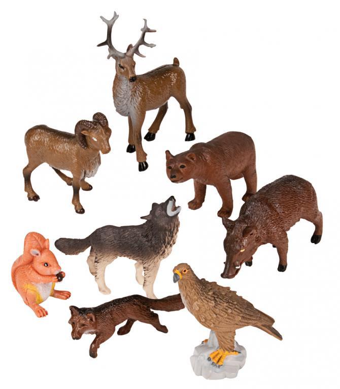 a00540c1a645a Figurki zwierząt - Zwierzęta leśne - 8 szt.