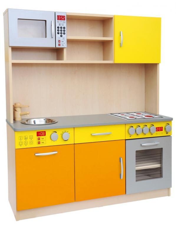Elegancka Kuchnia Maxi Pomarańczowo żółta Wwwedufit