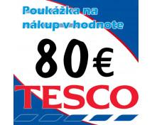 [TESCO poukážka 80 eur]
