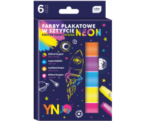 [Temperové farby v ceruzke, neonové, 6 farieb]