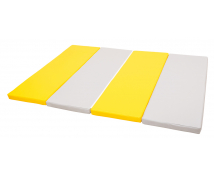 [Skladací farebný matrac, hrúbka 5 cm (sivá / žltá)]
