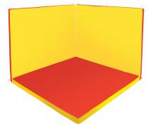 [Odpočinkový koutek čtverec - Relax 1 - červená / žlutá - malý]