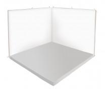 [Odpočinkový koutek čtverec - Relax 2 - šedá / bílá - malý]