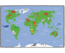 [Kobercová podložka - Mapa sveta]