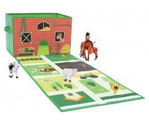 [Box na hračky s podložkou - Farma]