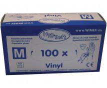 [Rukavice vinylové, nepudrované, veľ. M, 100 ks]