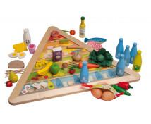 [Dřevěná pyramida zdravého stravování]