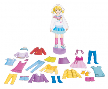 [Obliekacia bábika na stojane s príslušenstvom]