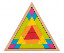 [Drevená mozaika - Trojuholník, 37 ks]