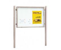 [Exteriérová vývesná tabuľa, 120 x 160 cm, sivá]