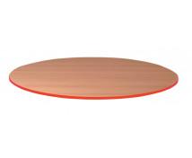 [Stolová deska 25 mm, BUK, kruh - červená]