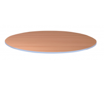 [Stolová deska 25 mm, BUK, kruh - modrá]