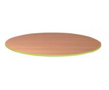 [Stolová deska 25 mm, BUK, kruh - zelená]