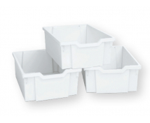 [Plastové kontejnery velké, sada 3 ks - bílé]