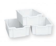 [Plastové kontejnery velké, sada 4 ks - bílé]