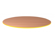 [Stolová doska 25 mm, BUK, kruh - žltá]